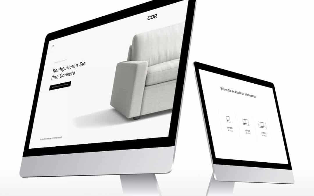 Der Conseta Konfigurator von COR im Designmöbelblog
